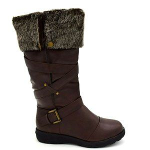 Forever Women Mid Calf Boot Size 7 Brown New